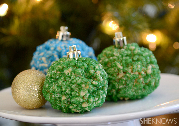 rice krispie ornaments