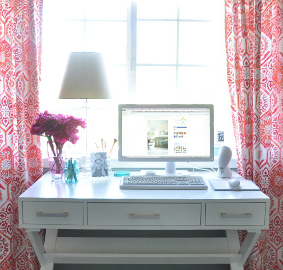 Kate Riley's home office on Centsational Girl