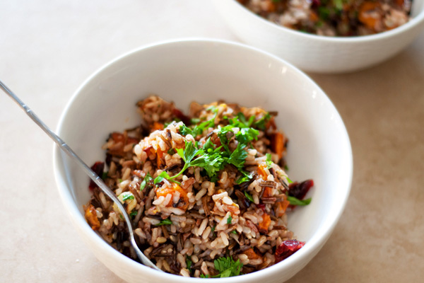 Rustic winter rice pilaf recipe