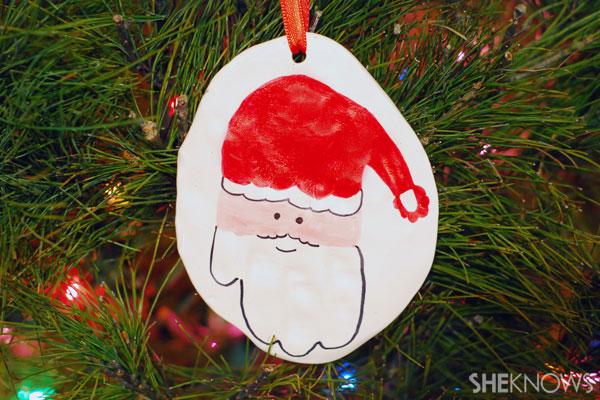 Salt-dough Santa ornament