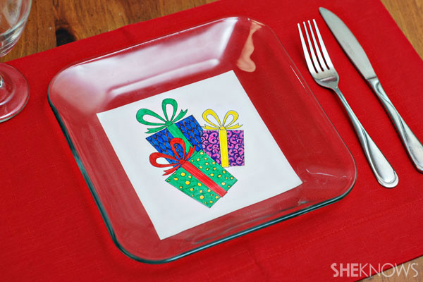 Custom holiday plate