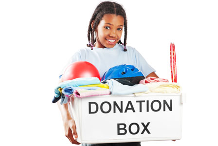 Declutter, downsize and donate