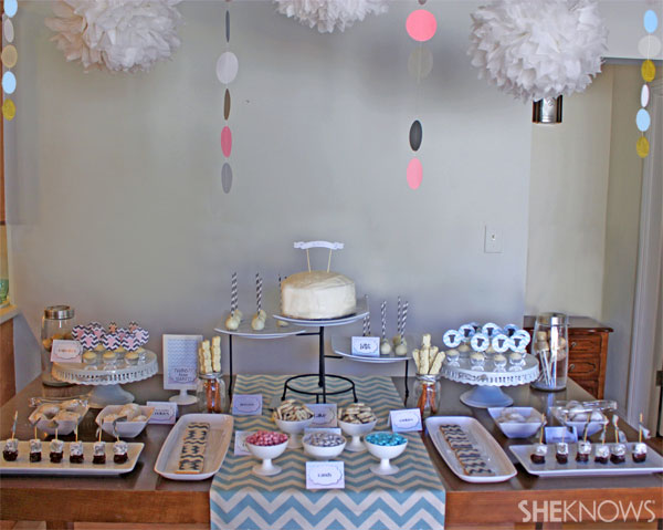 chevron stripe baby shower