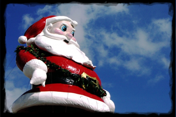 Scary Santa float