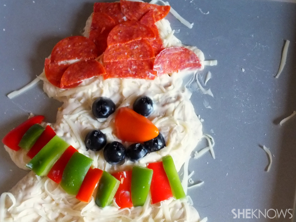 Uncooked snowman