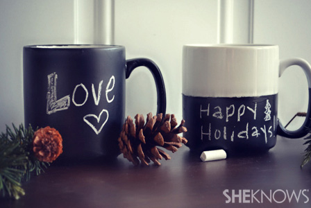 DIY chalkboard mugs