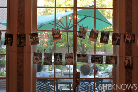 DIY personalized party display