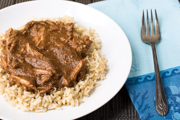 Slow cooker turkey mole