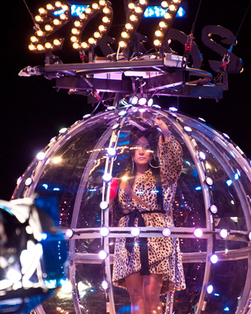 Snooki in New Year's Eve ball in Seaside Heights 2011