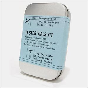 Prospector Co. Tester Vials Shaving Kit