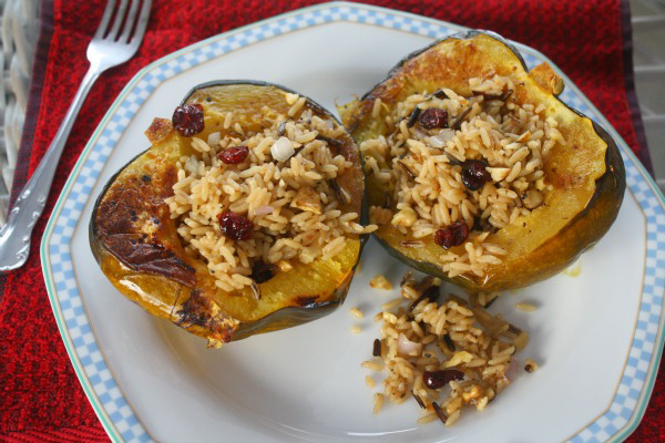 Acorn Squash with Wild Rice
