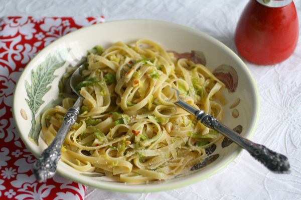 Pasta with Brussel sprouts