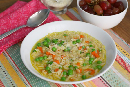 Pastina with vegetables
