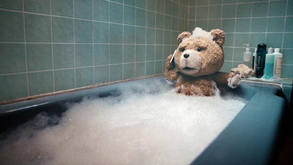 Ted in tub