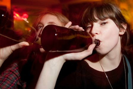 Teens drinking on New Year's Eve