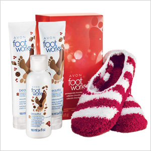 Avon's Foot Works Pomegranate Chocolate Collection