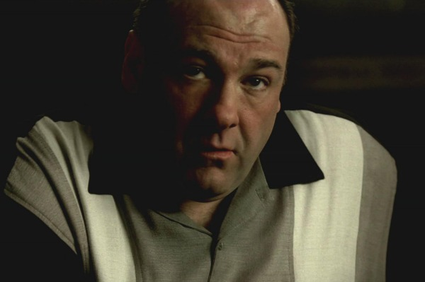 James Gandolfini in the series finale of The Sopranos