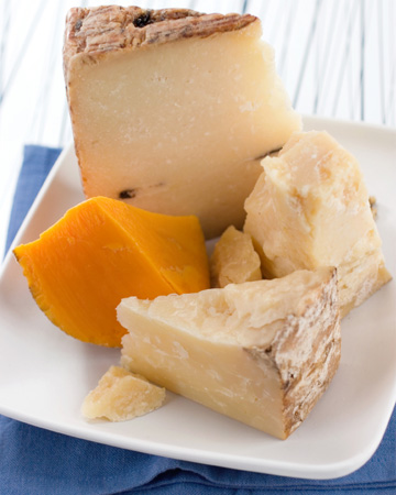 Variety of handcrafted cheese