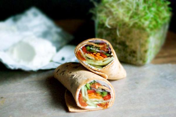 Veggie wraps with avocado honey dressing recipe