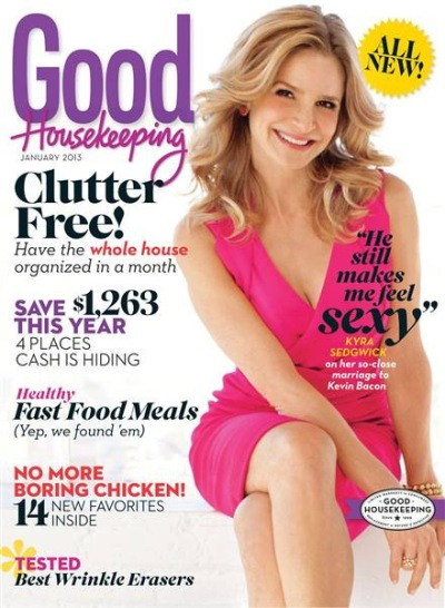 Kyra Sedgwick on January 2013 Good Housekeeping
