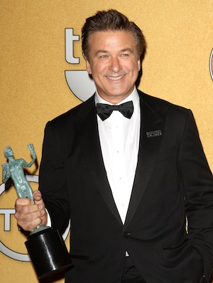 Alec Baldwin wins the 2012 SAG Awards.