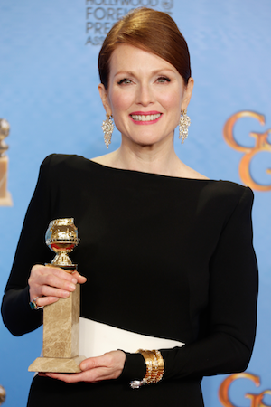 Julianne Moore wins at the 2013 Golden Globes