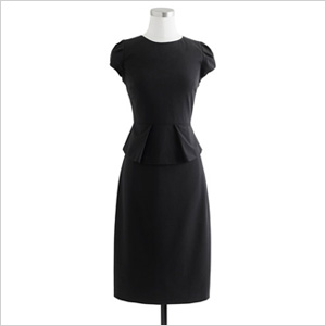 Stretch wool dress
