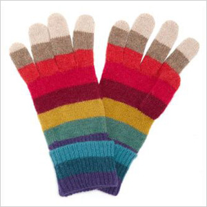 Stylish stripes gloves