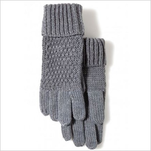 Warm and woolly grey gloves