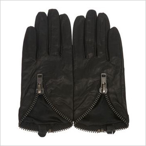 Chunky zip gloves