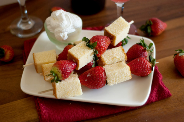Strawberry pound cake skewers recipe