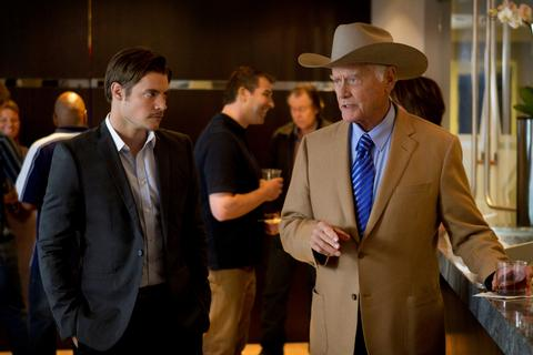 Josh with legendary actor Larry Hagman