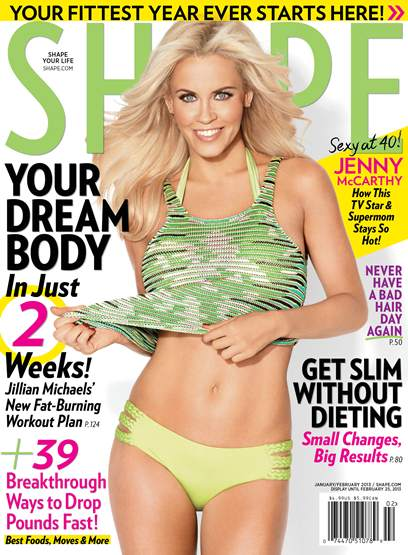 Jenny McCarthy Shape January 2013 cover
