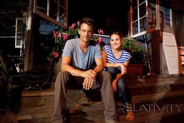 Josh Duhamel and Whitney English, SheKnows Safe Haven set visit
