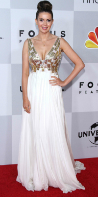 Carly Steel at the 70th Annual Golden Globe Awards