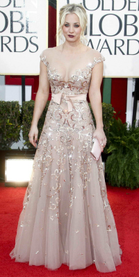 Kaley Cuoco at the 70th Annual Golden Globe Awards