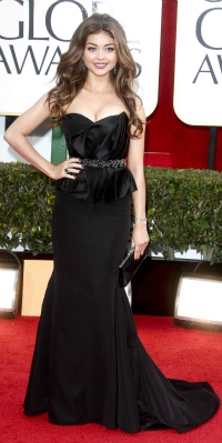 Sarah Hyland at the 70th Annual Golden Globe Awards