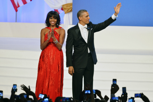 Michelle Obama and Barack Obama 2013 Inaugural Ball