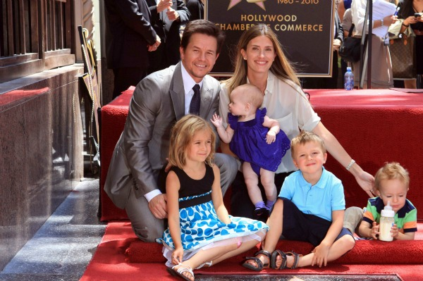 Mark Wahlberg with His Family at the Hollywood Walk of Fame