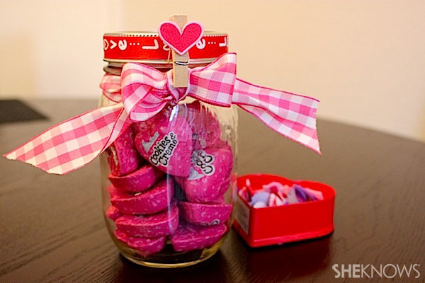 Pretty in pink mason jar