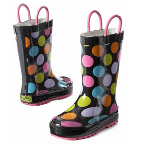 Super-cute kids' rain boots