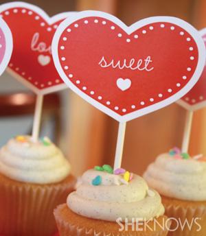 Valentine shower cupcakes