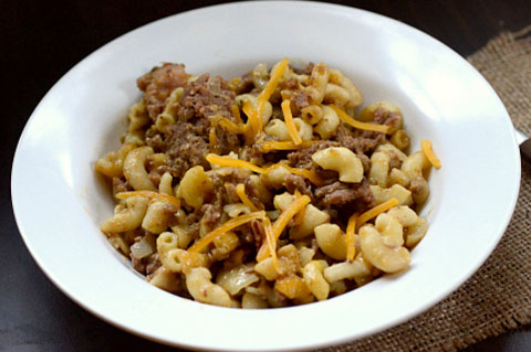 crock pot chesseburger casserole