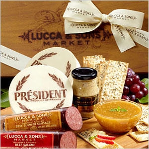 Lucca and sons meat and cheese box