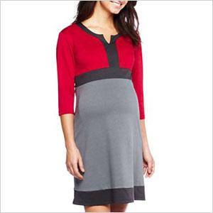 Colourblock maternity dress