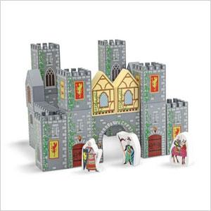 Wooden castle playset
