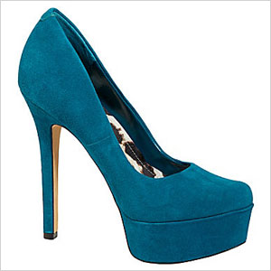 Jessica Simppson blue pumps