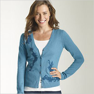J Jill blue cardigan sweater