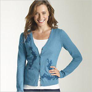 J Jill blue cardigan sweater