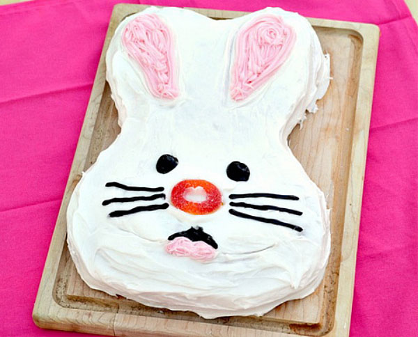 strawberry bunny cake